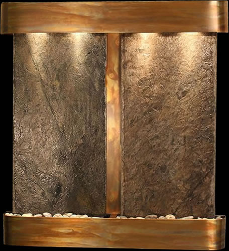 Aspen Falls With Slate Indoor Wall Mounted Hanging Water Fountain