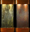 Adagio Cascade Springs Rounded Copper and Slate Wall Fountains