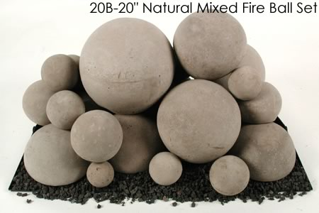 Ceramic Fireplace Fire Balls in Mixed Sizes for Gas or Propane