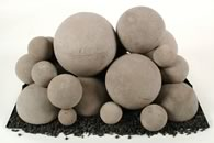 Contemporary Ceramic Vented Fire Balls for Gas or Propane Fireplaces Al Sizes
