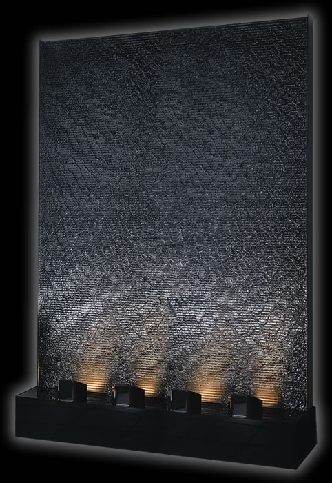 Giant 6 X 8 Black Acrylic Aqua Fall Water Panel