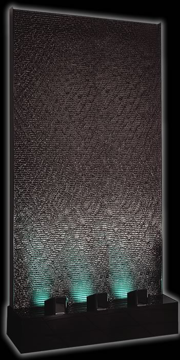 Large 4' x 8' Black Acrylic Aqua Fall Water Panel