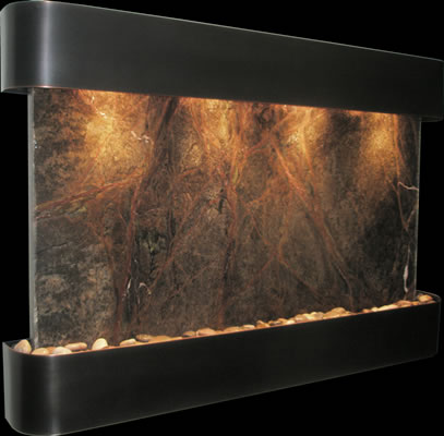 Sunrise Springs with Antique Blackened Copper Frame and Marble Stone