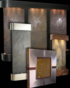 solid slate wall fountains - Interior Wall Water Fountains
