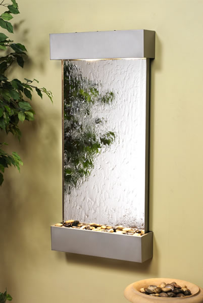 Adagio Whispering Creek Mirror Indoor Wall Mounted Water Fountain
